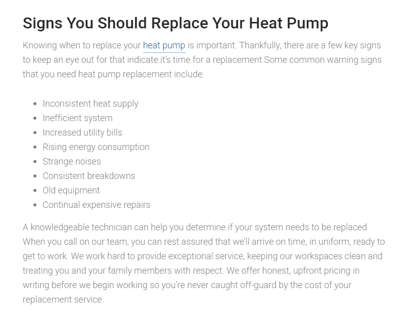 Heat Pump Replacement In Peoria, Glendale, Scottsdale, Cave Creek, AZ And Surrounding Areas