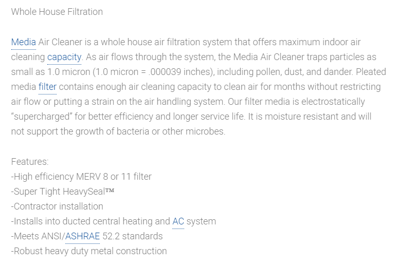 Air Filtration: Media Air Cleaners In Peoria, Glendale, Scottsdale, Cave Creek, AZ And Surrounding Areas